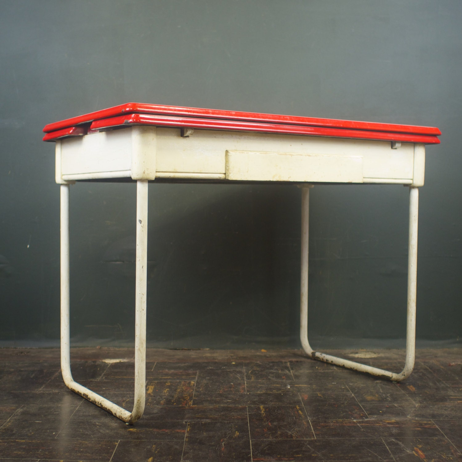 1920s Dining Table Porcelain Enamel Kitchen Table