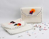Hand Sewn - Gift Card Holder - Credit Card Sleeve - Business Cards Case - Mini Wallet - Set of 6 -