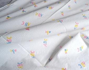 Vintage Fabric - Embroidered ABC Nursery - 35 x 64