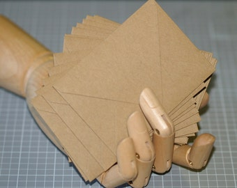 Kraft Envelopes (25) ... Mini Envelopes Thank You Notes Recycled Rustic Gift Card ACEO Size Wedding Guest Book Euro Flap