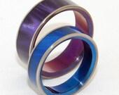 wedding rings, titanium rings, wood rings, mens rings, womens ring, Titanium Wedding Bands, Eco-Friendly Rings - SEA BED BEAUTY