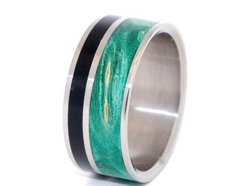 wedding ring, titanium rings, wood rings titanium wedding ring, men's ring, women's ring - WITS THAT AGREE