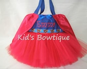 Monogrammed Tutu Tote Bag with Cape for a Super Girl Fan