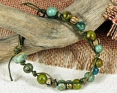 Boho Green, Hand Tied Bracelet, Hippie, Summer Beach Bracelet chtbb1