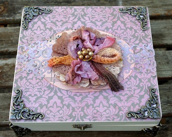 Vintage Shabby Keepsake Box Handmade