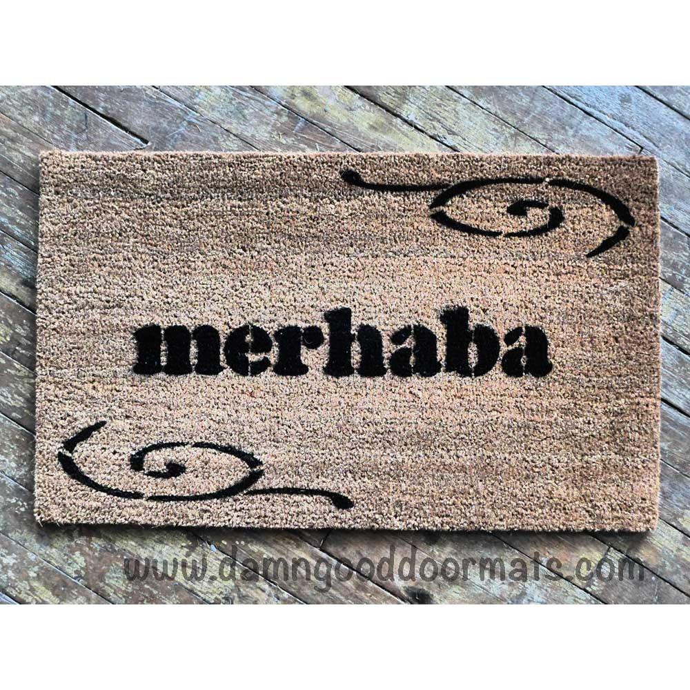 Turkish Merhaba Welcome Mat