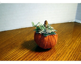 Suede Pumpkin/Tiny Size/Handmade/ Single /Holiday Decor*