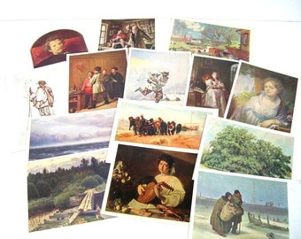 Vintage Russian Postcard Collection Number 2