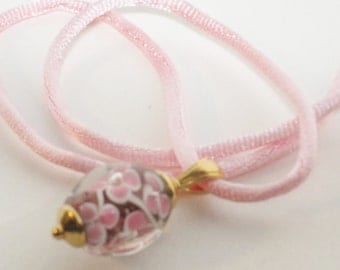 Floral bead pendant