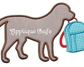 503 School Dog Machine Embroidery Applique Design