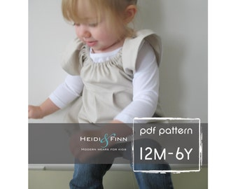 Little Pleated Tunic tutorial and pattern 12M - 6T EASY Sew