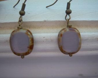 Purple Earrings - Earthy Earrings