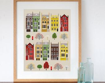 London Row Houses Art Print