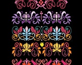 FANCY ART DECO Borders - 30 Machine Embroidery Designs Instant Download 4x4 5x7 6x10 hoop (AzEB)