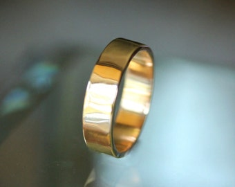 14K Rose Gold Simple Stacking Ring, Wedding Band, Gold Band, Men's Band - Made To Order