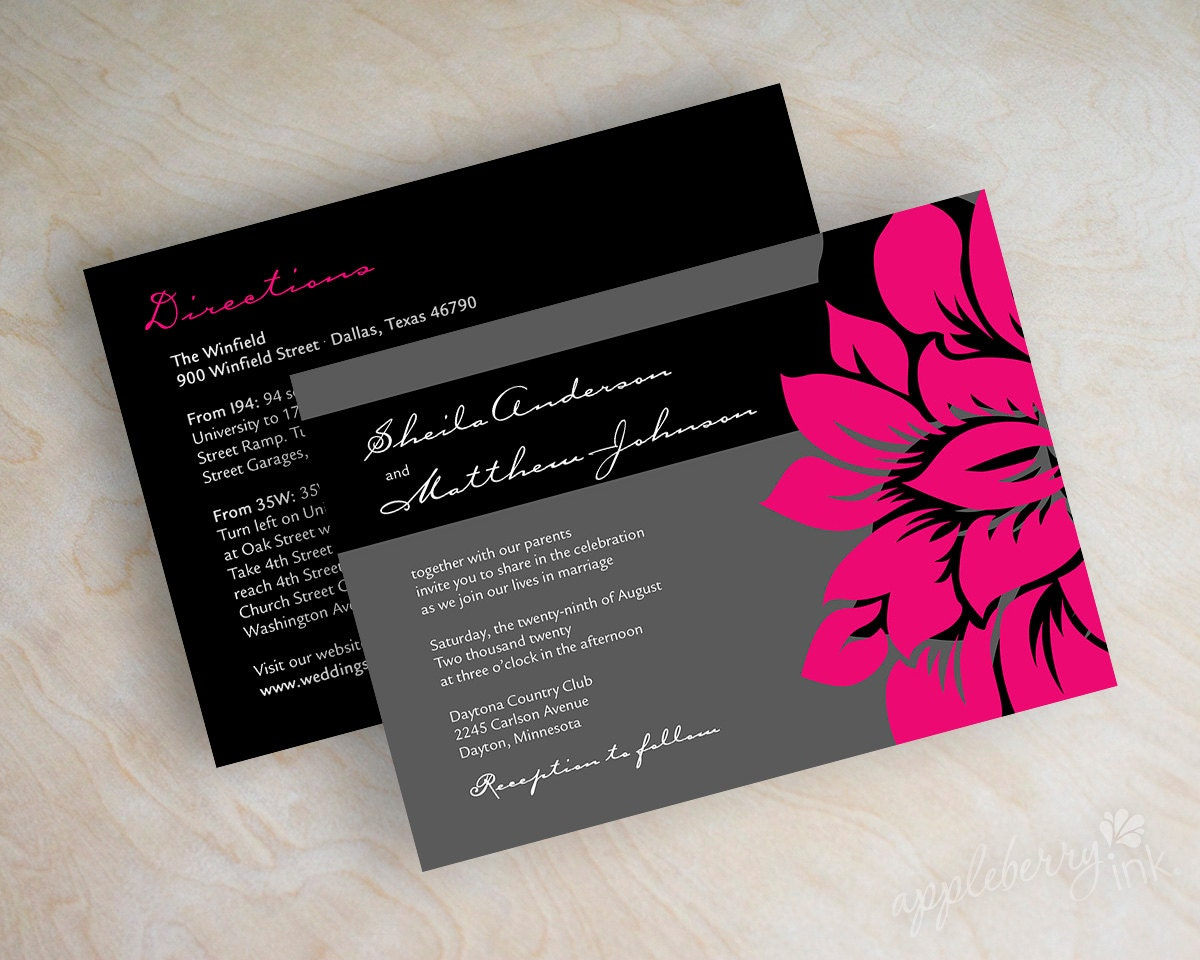wedding invitations modern invitation contemporary wedding