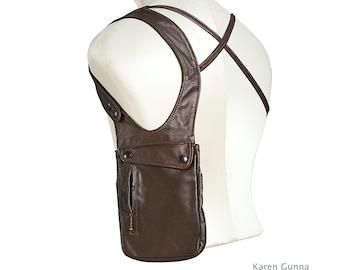 Leather Travel Holster/Passport Holder for Men/Travel Bag-The Victor