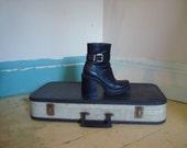90s vegan industrial platform boots 6 1/2