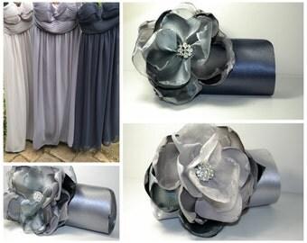 Set of 3 Purses | Gray Ombre Wedding | Bridesmaid Clutch | Custom Clutch | Rhinestone Clutches | Silver Clutch | Gray Purse | Winter Wedding