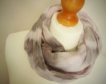 Girls or Ladies Summer Storm Long Cotton Snood Infinity Scarf - Naturally Dyed - Childrens Organic Summer Beach Accessory