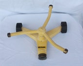Vintage Nelson Lawn Sprinkler..Yellow Cast Metal..Works..1970's..Summer Fun for the Kids