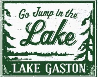 Go Jump in the Lake-Lake Gaston 12x14