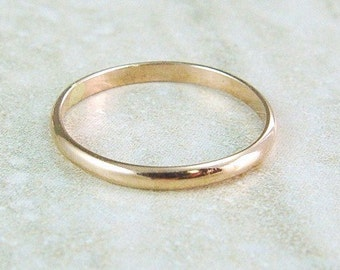Rose Gold Ring / Rose Gold Filled Wedding Band / Gold Filled Skinny Ring