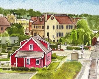 Tosa Village Watercolor Print (8x10)