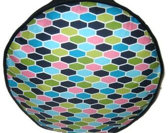 Geometric Pattern Pouffe Foot Rest Floor Cushion Pouff