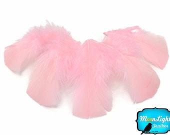 Wholesale Feathers, 1/4 lbs - LIGHT PINK Turkey T-Base Plumage Wholesale Feathers (bulk) : 3448