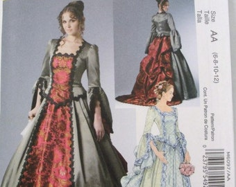 Victorian gown Adult Costume pattern McCalls 6097 sizes 6-12