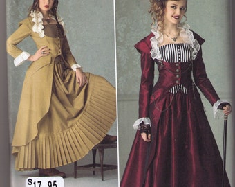 Steampunk coat bustier skirt pattern Simplicity 2172 Adult sizes 14, 16, 18 20, 22