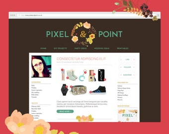 FLORAL BOTANIC Blog Design Kit