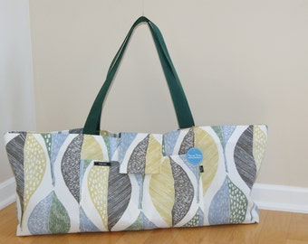 Xlarge Yoga Bag lined with felt made from recycled plastic material- Made to Order.