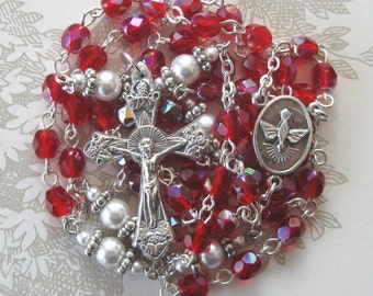 Red AB Czech Rosary