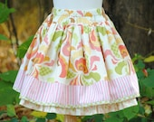 Girl's Twirly Skirt, Girls Skirts, Childrens Clothing, Girls Clothing, Toddler skirt, Petticoat, Twirly skirt, size 2 3 4 5 6 7 8