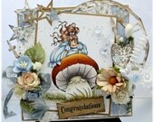 Enchanted - OOAK Handmade Greeting Card - Whimsy Stamps