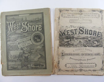 The West Shore ANTIQUE Journal Two issues June 1881 & February 1884 Pacific Northwest