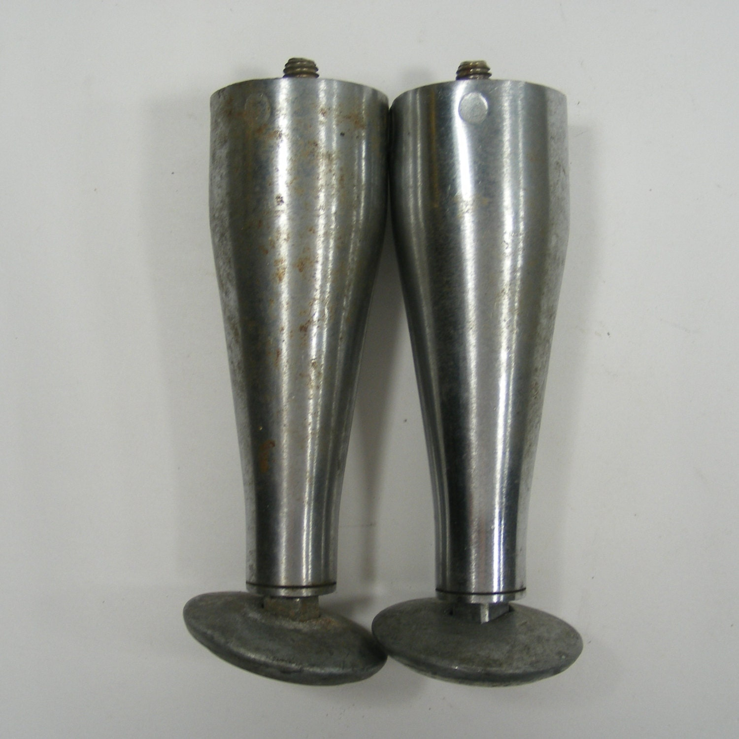 pair of metal desk legs with adjustable by thefronthouse
