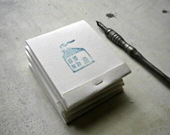 Matchbook Journals with stamp of blue house, Matchbook Notepads,  Wedding Favors set of 10 -