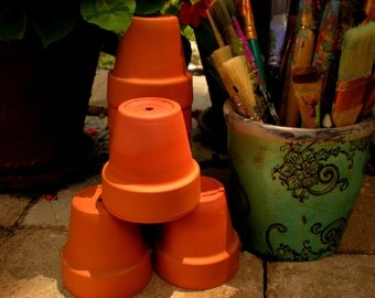 Small Flower Pots - Unpainted Pots - Classroom Projects - Student Projects - Clay Pots