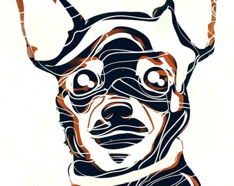 chihuahua CONTEMPORARY ART PRINT