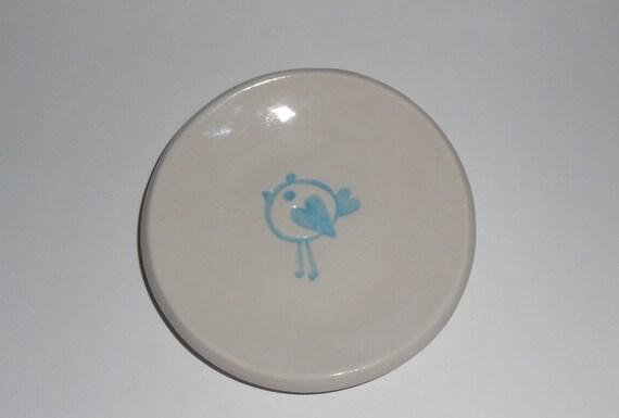 small porcelain bird dish