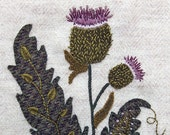 Jacobean Flower Wool Applique, Hand Embroidery / Pattern / Jac 021