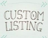 Custom Listing -  Martina