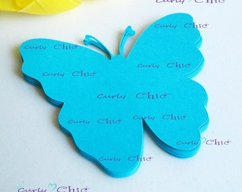 "40 Butterfly  III Tag Size 3.00"" -Butterflies Labels -Paper Butterflies Tags -Custom Paper Butterflies die cuts -Paper Butterflies Labels"