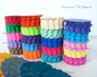 """100 Scalloped Circles Tags Size 2 inch -You can Mix and match any color Set """"Choose your colors"""" in Non-textured or Textured Cardstock paper"""
