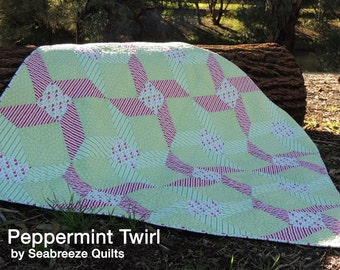 Peppermint Twirl Quilt Pattern