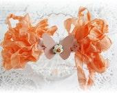 Seam Binding Crinkle Ribbon~Peach Cobbler~5 Yards, Scrapbooking, Cardmaking, Tag Art, Sewing, Gift Wrap