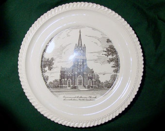 Vintage Emmanuel Lutheran Church of Lincolnton NC Decorative Plate